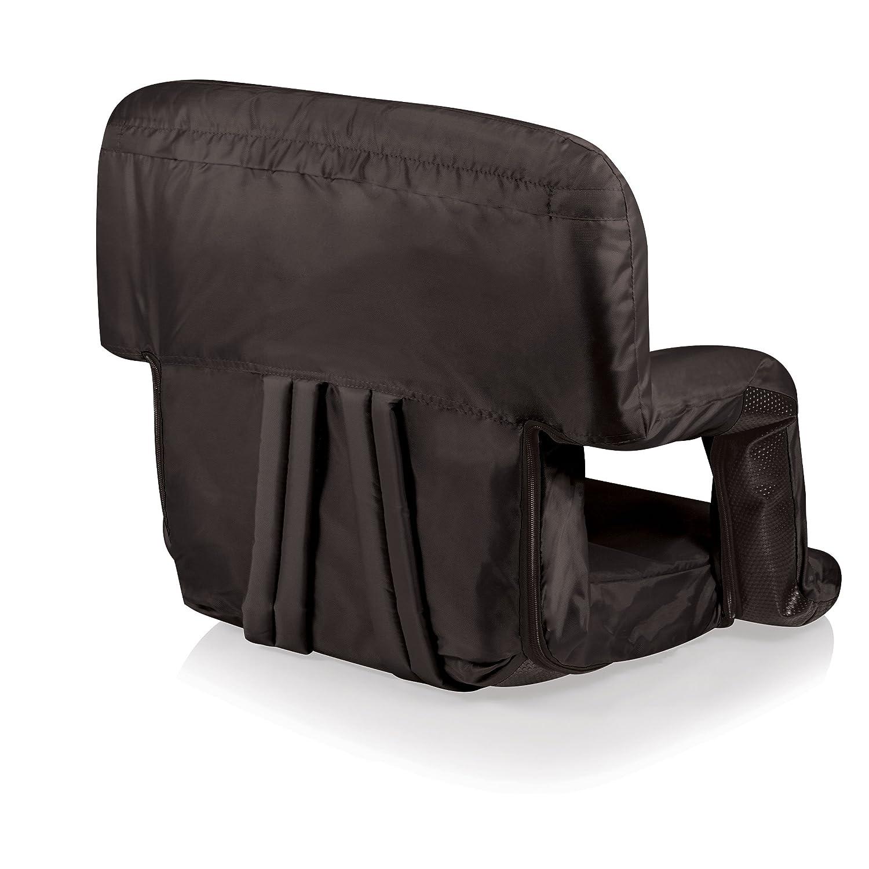 Amazon com black chair cushions - Amazon Com Picnic Time Portable Ventura Reclining Stadium Seat Black Sports Stadium Seats And Cushions Sports Outdoors