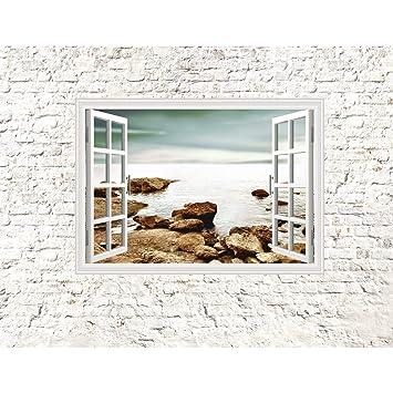 Fototapete Fenster zum Meer Vlies Wand Tapete Wohnzimmer ...