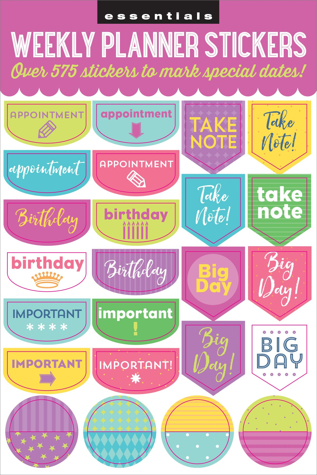 Essentials Weekly Planner Stickers Set of 575 Stickers ...
