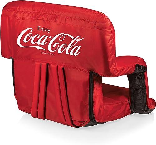 Picnic Time Coca-Cola Ventura Portable Reclining Stadium Seat