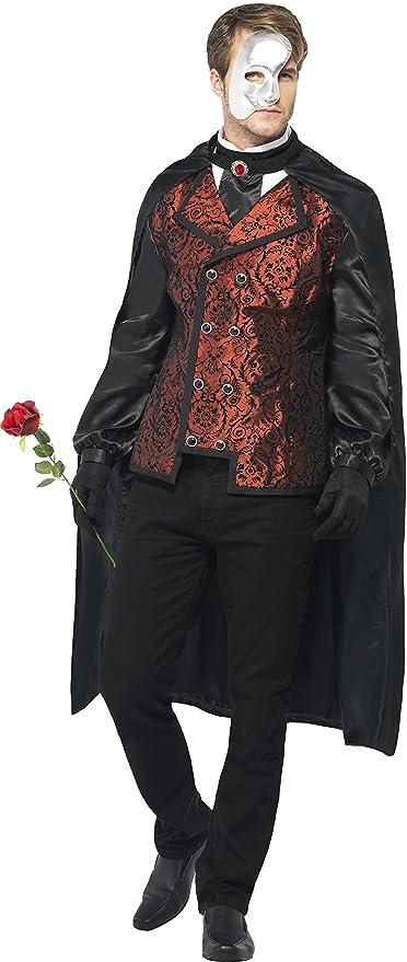 Victorian Men's Costumes: Mad Hatter, Rhet Butler, Willy Wonka Smiffys Mens Dark Opera Masquerade Costume  AT vintagedancer.com