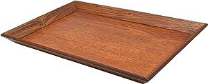 Japanese Style Classic Wooden Plain Tea Tray, Rectangle