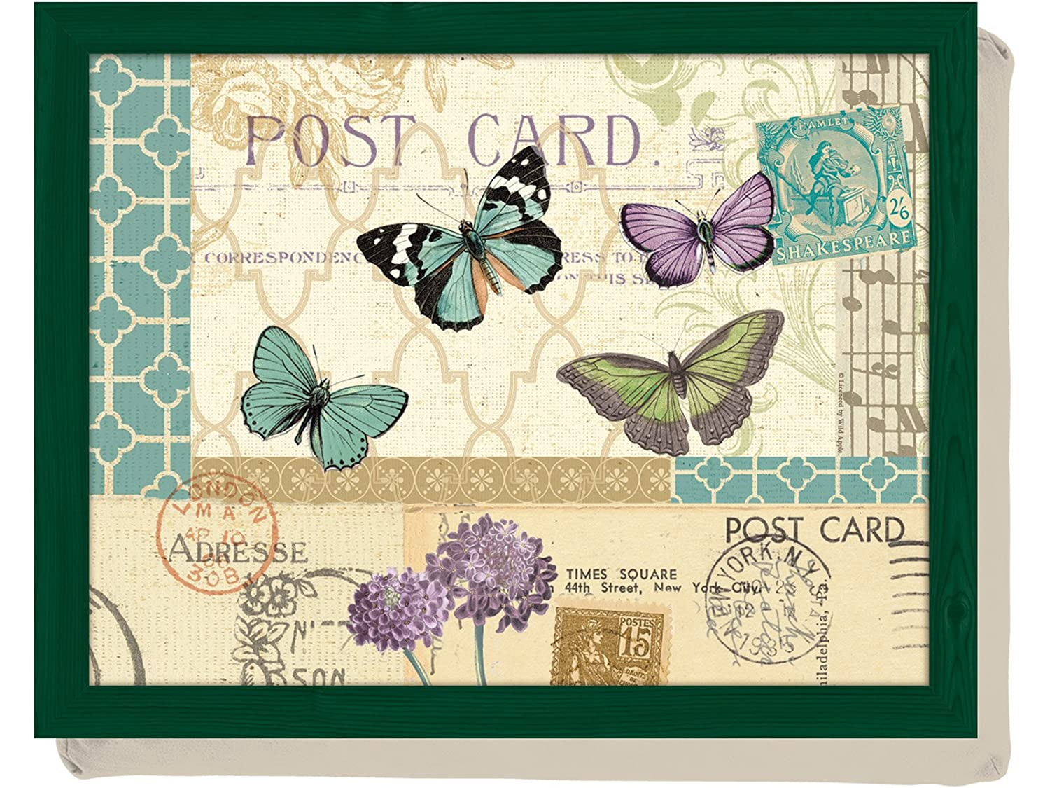 Postcard Butterfly Bean Bag Cushion Lap Tray Laptop Tray By Creative Tops 5123088