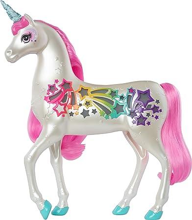 Barbie Unicorno Pettina e Brilla, Accessorio per Bambole