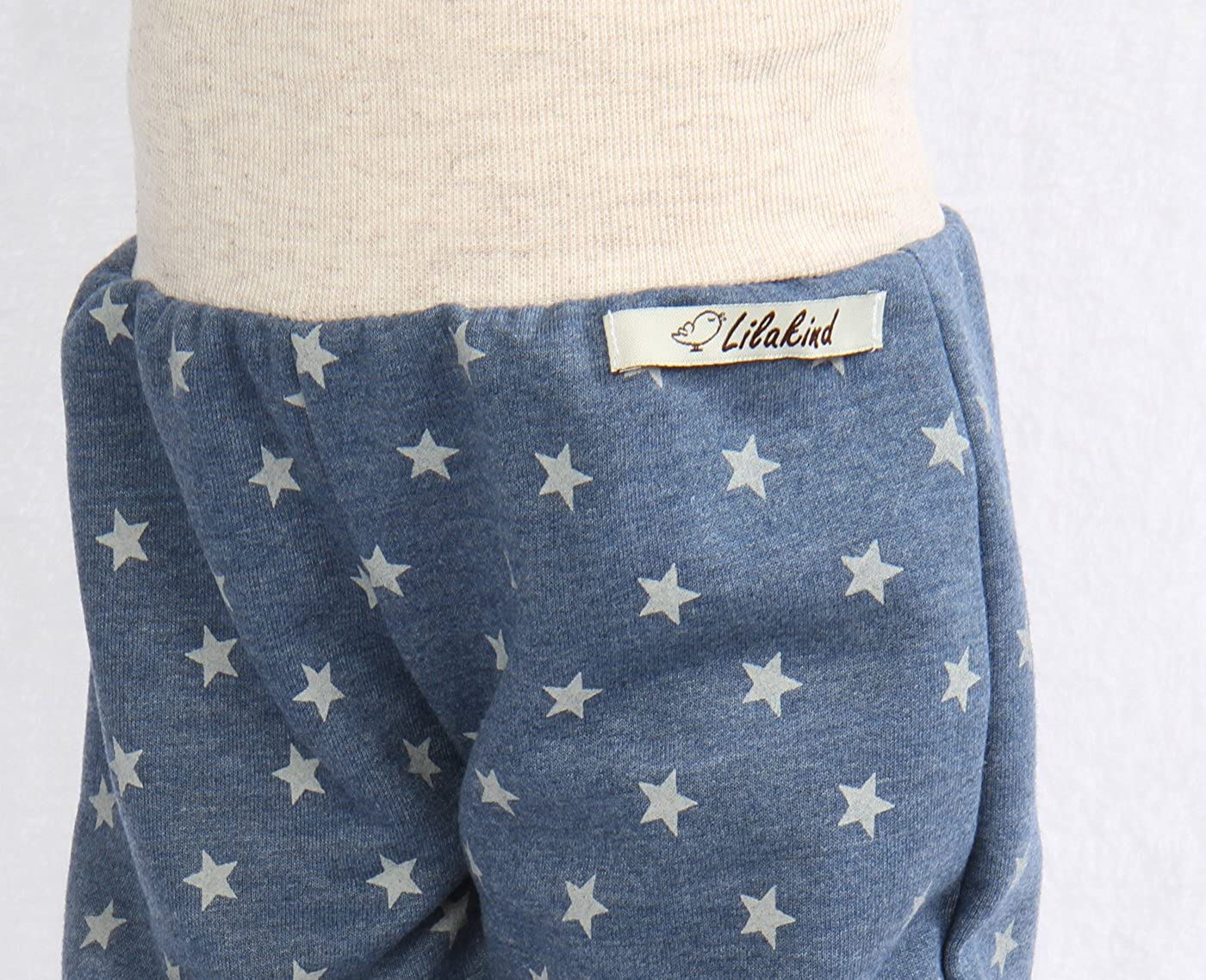 Made in Germany Lilakind Pumphose Hose Babyhose Jersey Sweat Jeansblau Sterne