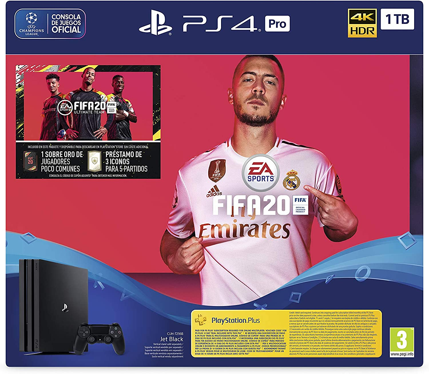 PlayStation 4 (PS4) +FIFA20/FUTVCH/Psy 14 días PS4 Pro 1TB G/SPA: Sony: Amazon.es: Videojuegos
