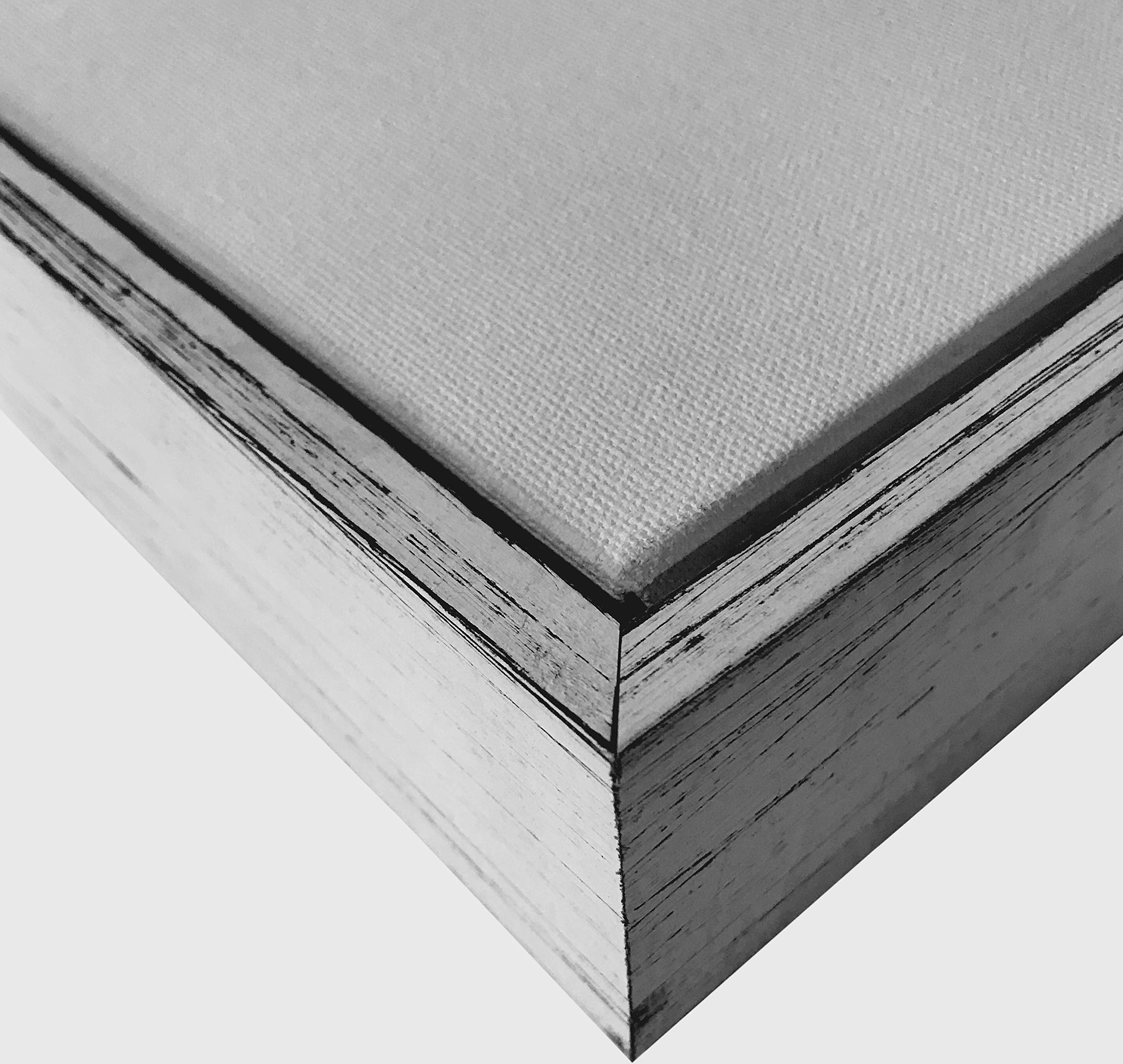 Weathered White Floater Frame for 1.5'' deep Canvas, (Different Sizes) (24x36'')