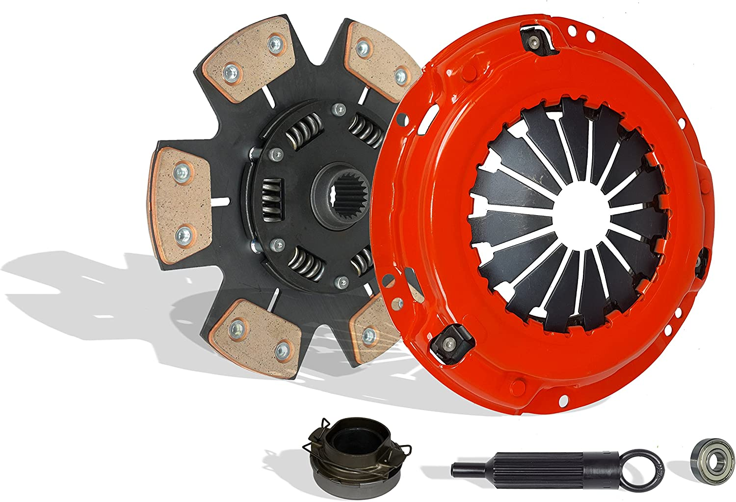 Clutch Kit Works With Toyota Pickup 4Runnner T100 SR5 DLX Base One-Ton Sport Extended Standard Pickup 1988-1995 3.0L V6 GAS SOHC Naturally Aspirated 6-Puck Disc Stage 3; 2Wd; 4Wd; Vin V 3Vze