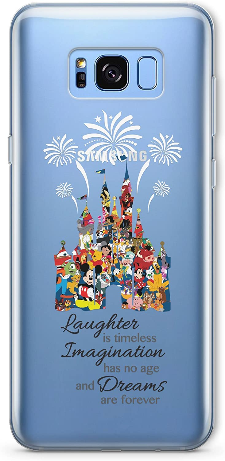 Amazon Com Smartgiftshop Cartoon Character Disney Fan Art Clear Tpu Phone Cover Case For Iphone Samsung Samsung Galaxy S8 Disney Castle Quote