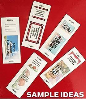 amazon com jumbo blue raffle tickets paper 2 75in x 8 5in