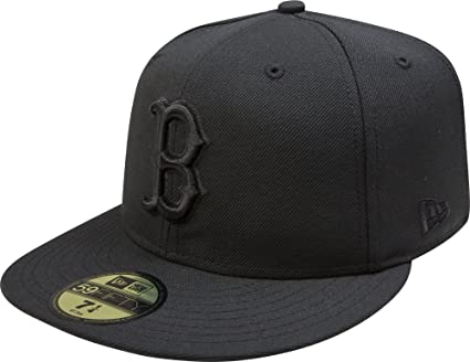 wholesale great deals new design Amazon.com : New Era MLB Boston Red Sox Black on Black 59FIFTY ...
