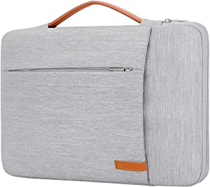 Lacdo 360° Protective Laptop Sleeve Case Computer Bag for 15.6 Inch Acer Aspire, Predator, Inspiron, ASUS ZenBook 15 VivoBook, HP Pavilion, IdeaPad 330, ThinkPad E590 Chromebook Water Repellent, Gray