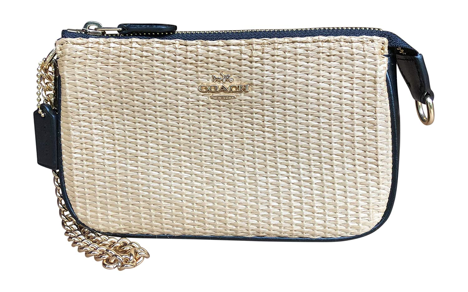 Coach Straw Leather Large...