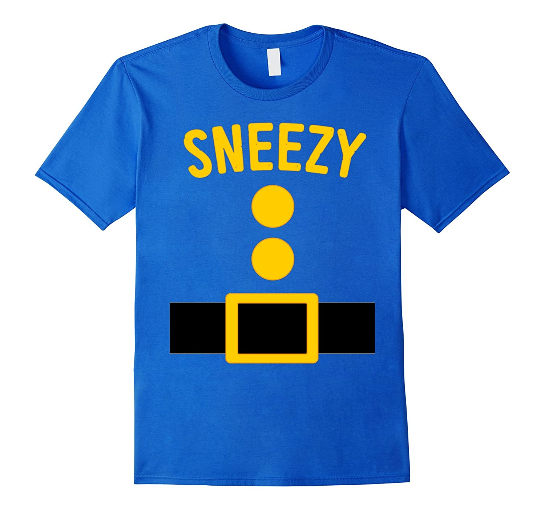 Sneezy Dwarf Costume T-Shirt Funny Halloween Gift-T-Shirt