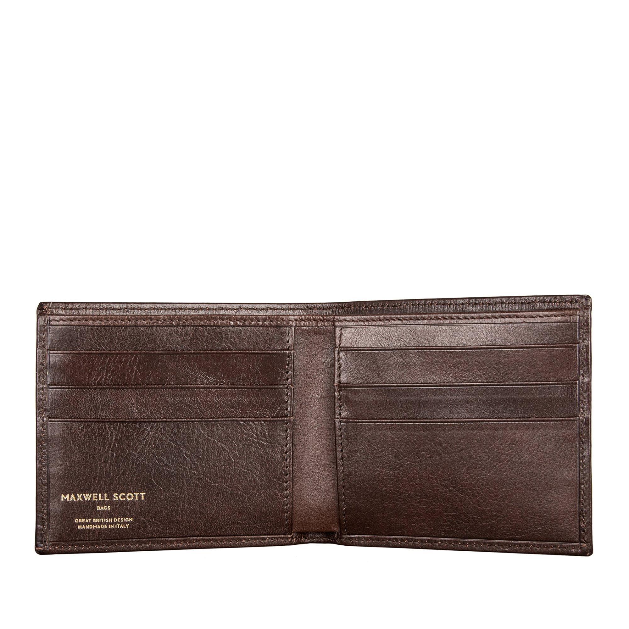 Maxwell Scott Luxury Dark Brown Leather Wallet - One Size (The Vittore)