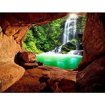 Fototapete Wasserfall Vlies Wand Tapete Wohnzimmer Schlafzimmer Büro ...