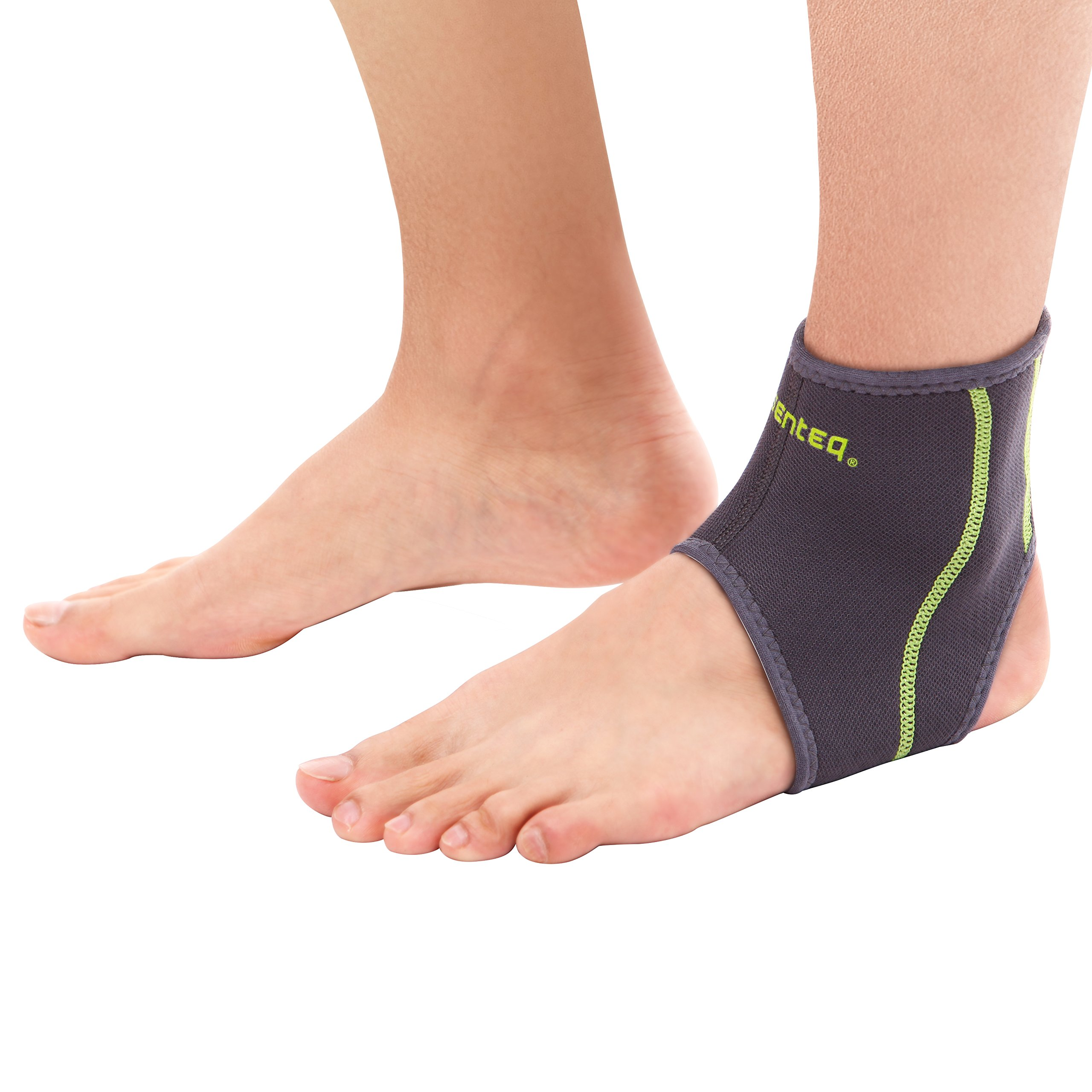 SENTEQ Compression Ankle Brace - Medical Grade and FDA Approved. Provides Support and Pain Relief for Sprains, Strains, Arthritis and Torn Tendons in Foot and Ankle (M)