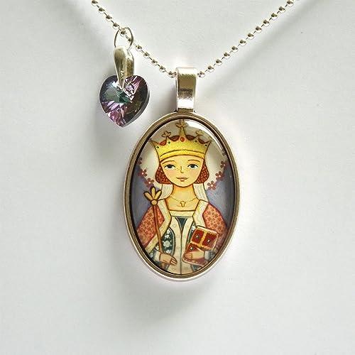 Amazon com: Saint Agnes necklace Saint necklace St Agnes necklace