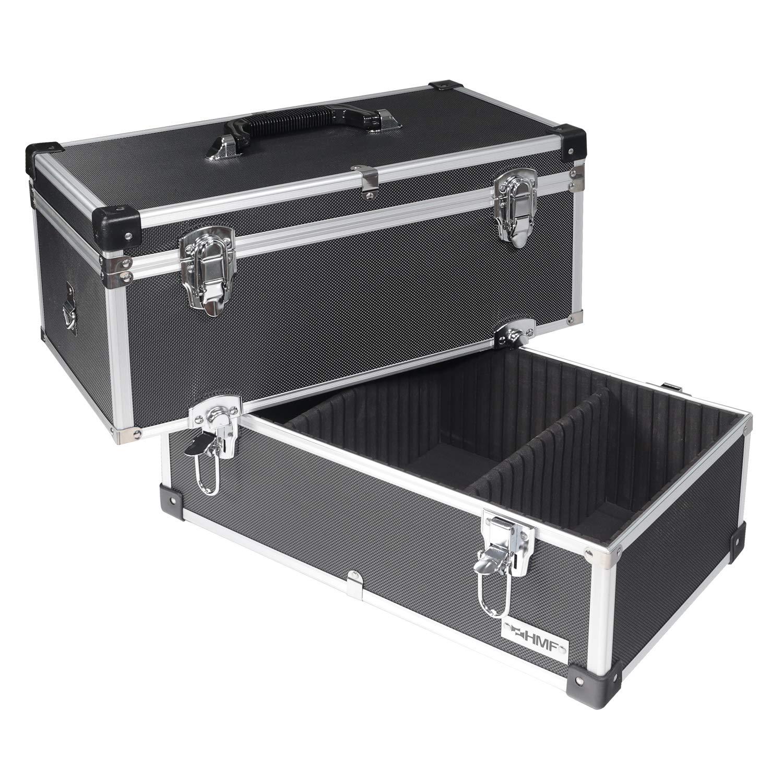 HMF 14660900 separadores individuales, estantes a elegir Malet/ín de herramientas de aluminio color negro