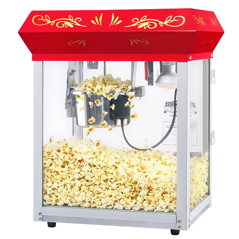 6131 Great Northern Popcorn Red All Star GNP-450 Classic Popcorn Machine Top, 4 oz