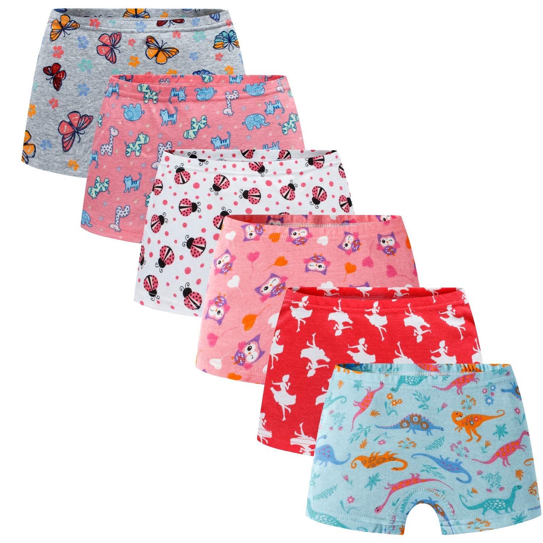 Boboking Soft 100/% Cotton Girls Panties Boyshort Little Girls Underwear Toddler Undies