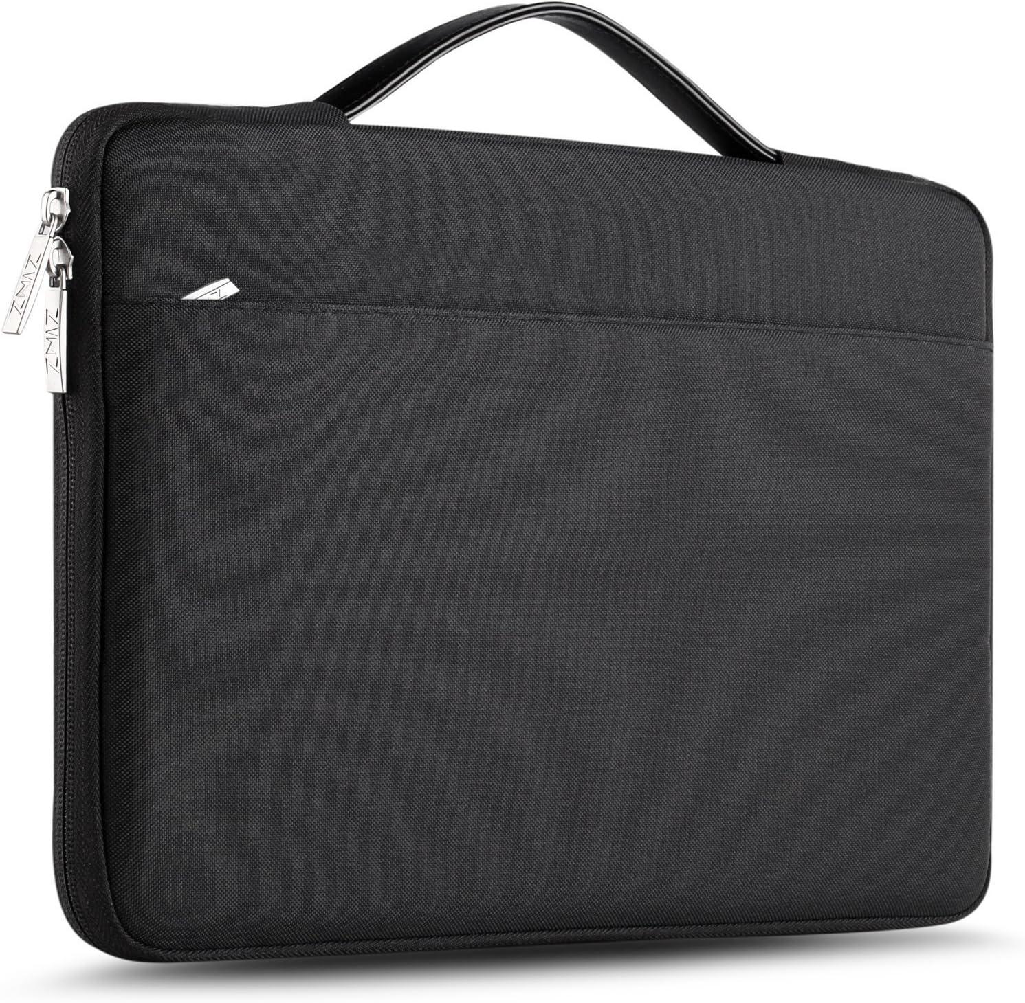 ZINZ Maletín 15 15,6 16 Funda Portátil Impermeable para 15-16 Pulgadas MacBook Pro 16 15, Surface Laptop 3 15,XPS 15 Laptop Ultrabook Netbook, DELL HP Lenovo Acer ASUS y más, Negro