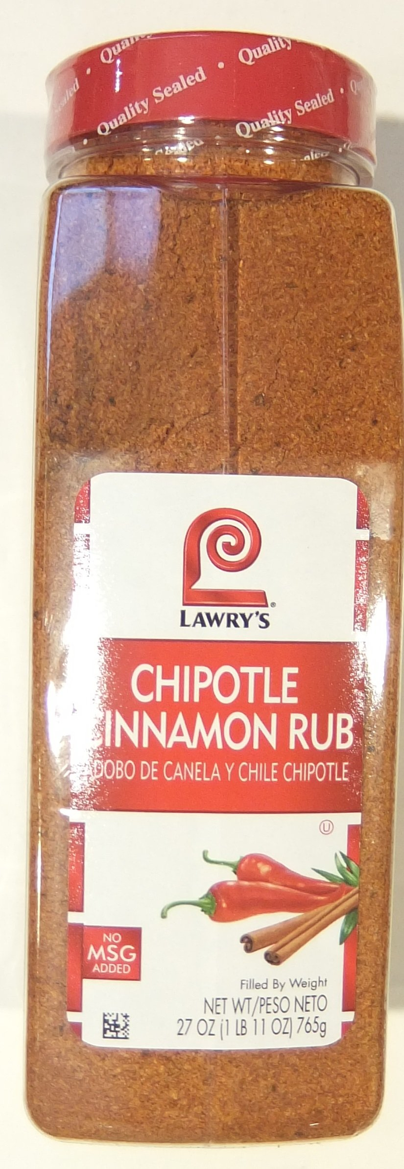 Lawry's Chipotle Cinnamon Rub, 27 Ounce