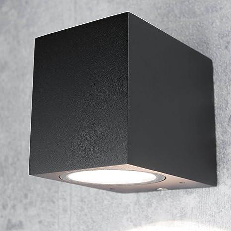 Kompakte Außenwandleuchteaalborg Down Strahler Für Die Hauswandeckig In Schwarz Ip44 Gu10 Außenleuchte Lampe Hof Garten