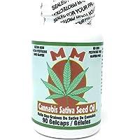 Med Marijuana Cannabis Sativa Seed Oil, anti-Inflammatory, joint pain, (1000 miligram), 90 count soft gels