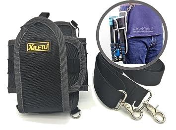 Coolway® Bolsa para cinturón de cámara profesional, Bolsa para cinturón de estabilizador para Trípode Monopié Ideal para viajes y fotografía al aire ...