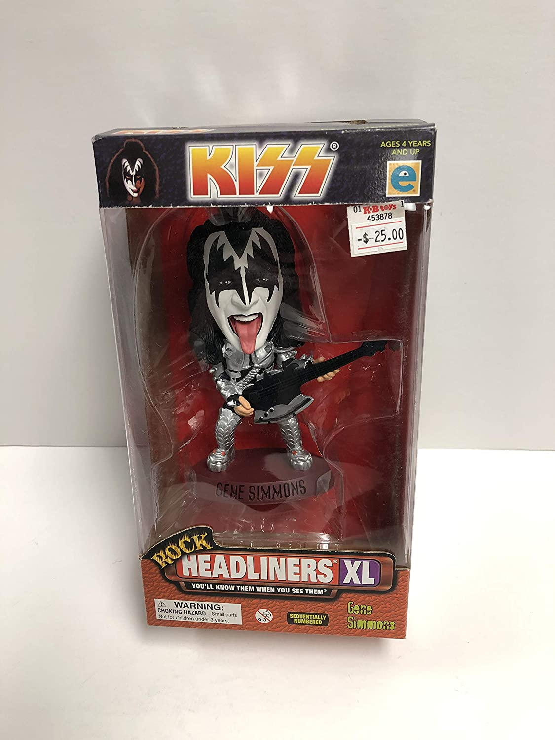 KISS Gene Simmons Rock Headliners XL Limited Edition Collectible Figure
