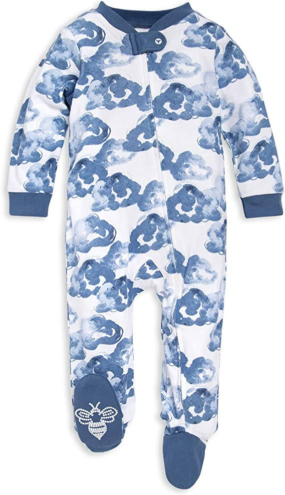 Boys Footed One-Piece Bunny Trail Organic Cotton 6-9 Months Burts Bees Baby Baby Sleep /& Play-Girls