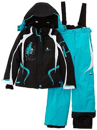 Peak Mountain Gagyss/nh - Conjunto térmico de ropa interior para niña, color azul