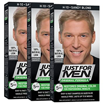 64f048c63 Just For Men Original Formula Men's Hair Color, Sandy Blond(Pack of 3)