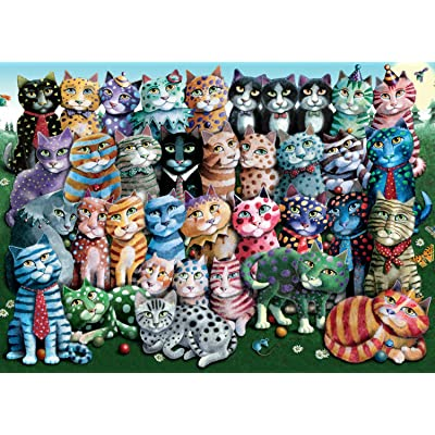 Ravensburger Cat Family Reunion 1000 Piece Jigsaw Puzzle for Adults – Every Piece is Unique, Softclick Technology Means Pieces Fit Together Perfectly: Toys & Games