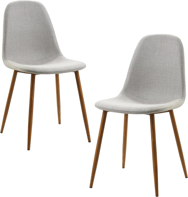 Versanora Minimalista Dining Chairs, Light Grey