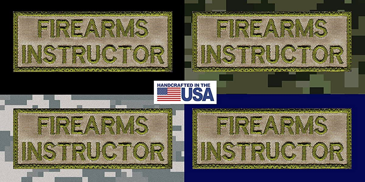 Firearm Instructor Nametag Patch