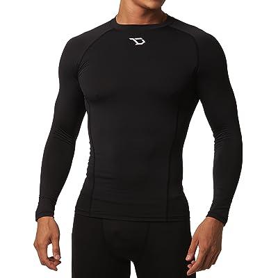 Defender Men's Quick Dry Compression Baselayer Underlayer Top Long Sleeve T-Shirt