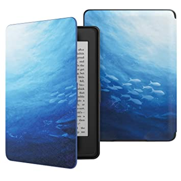 MoKo Case for Kindle Paperwhite, Premium Thinnest and Lightest PU Leather Cover with Auto Wake