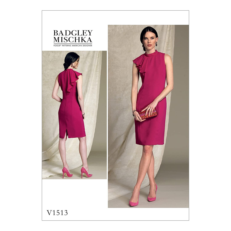 Vogue Patterns 1513 A5 Misses/Petite Dress, tessuto,, taglie 6 –  14 taglie 6-14 The McCall Pattern Company V1513A50