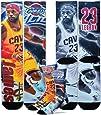 Cleveland Cavaliers Youth Size NBA Drive Crew Kids Socks (4-8 YRS) - Lebron James