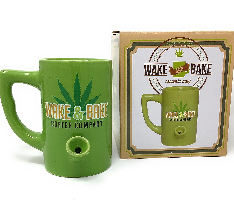 Amazon.com   Island Dogs Wake and Bake All in One Ceramic Mug Coffee Cup  Pipe Novelty Gifts: Coffee Cups & Mugs