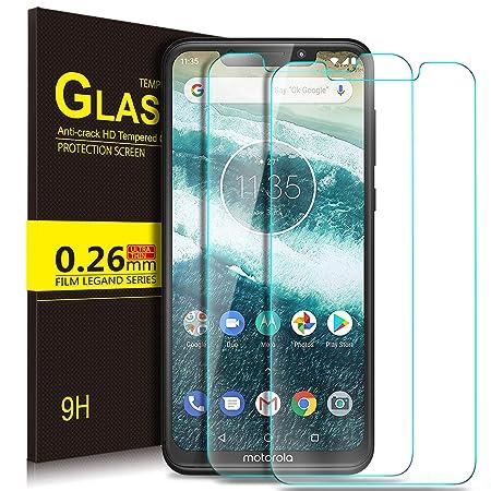 Kugi Motorola One Protector de Pantalla, Motorola One/Moto Android One Cristal Templado [9H Dureza] [Alta Definicion] Protector de Pantalla para Motorola ...