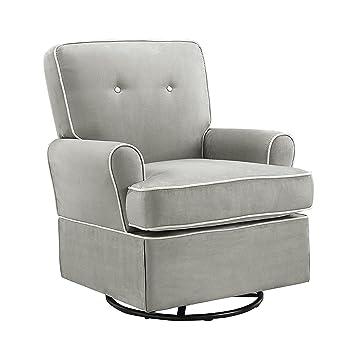 baby relax the tinsley nursery swivel glider chair grey