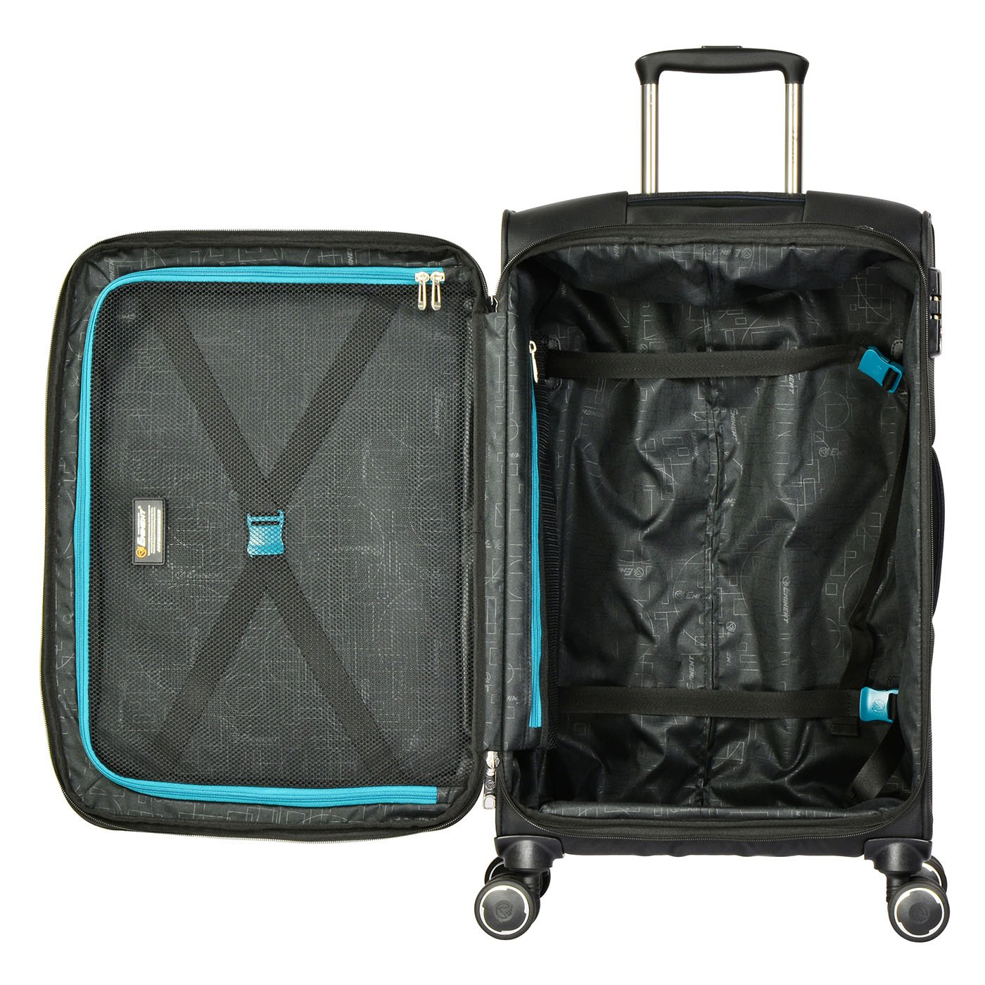 859ee3a8c Eminent Valencia Luggage Set of 3 | 54/67/78cm Carry-on Hand Bag, Medium &  Large Travel Check-in Suitcases | 4 Silent 360° Double wheels, TSA Lock, ...