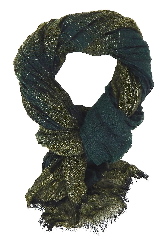Ella Jonte mens scarf green striped P1044