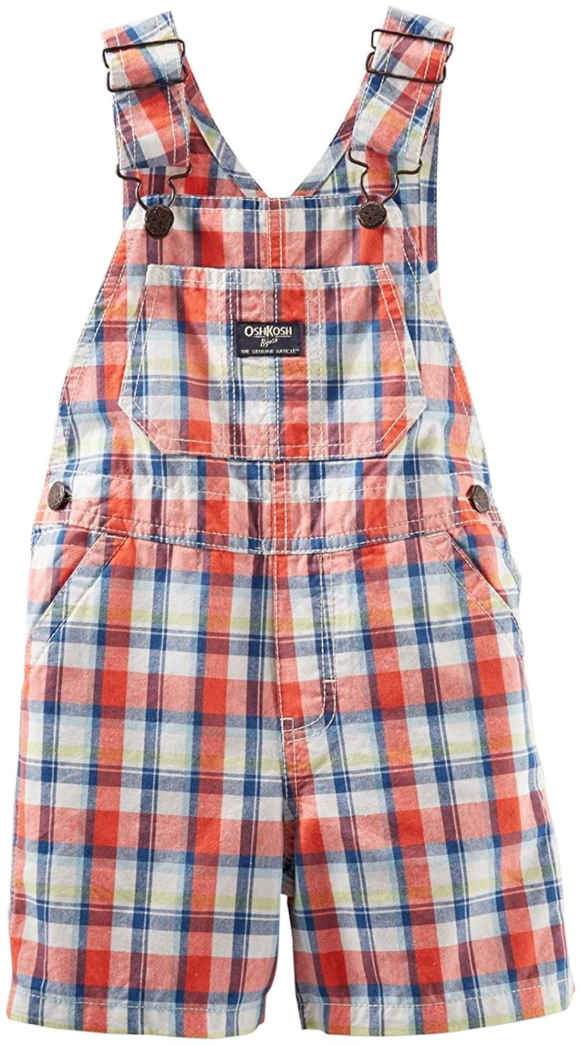 OshKosh Baby Boys'Nostalgic Plaid Shortalls