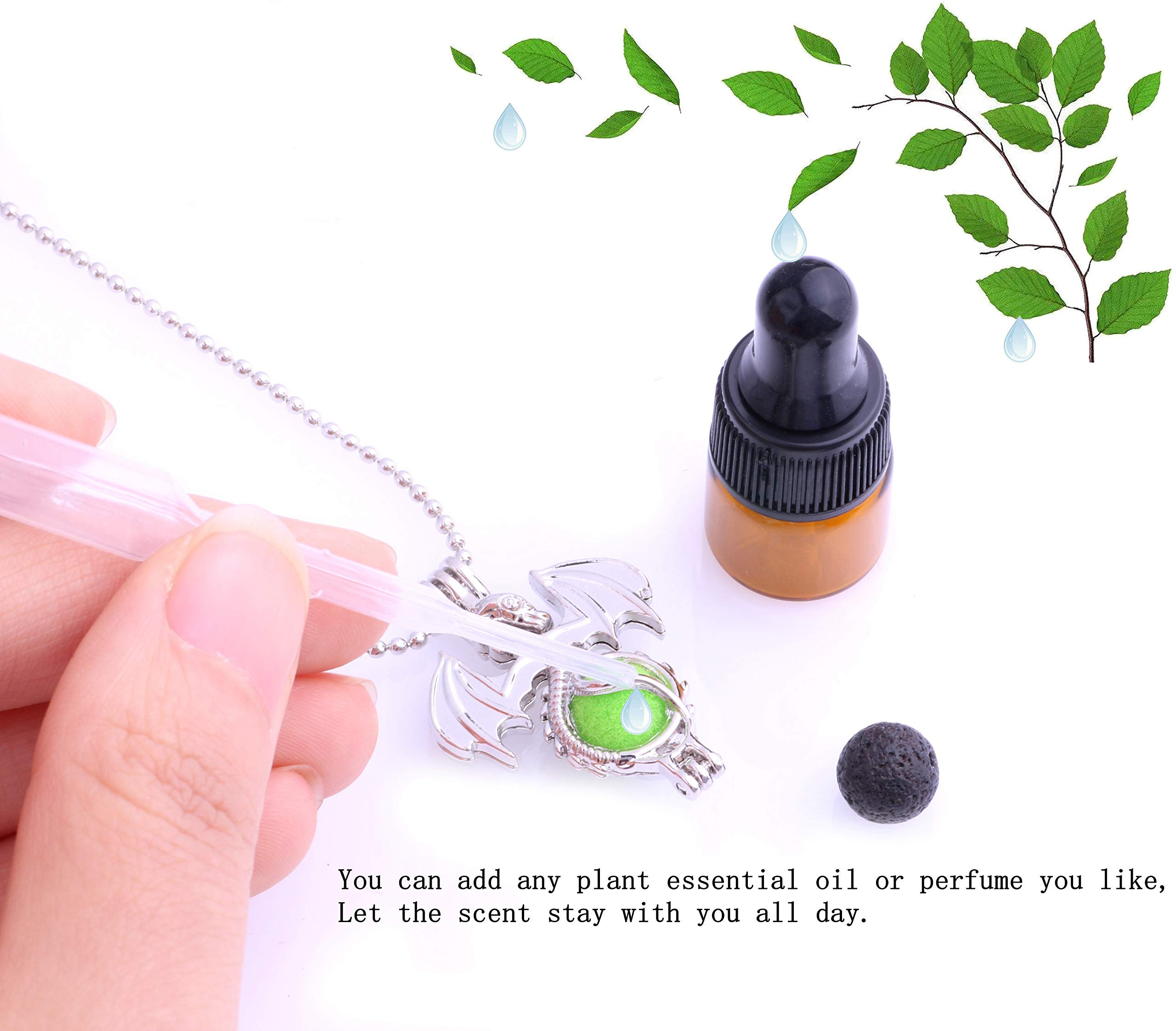 30pcs Mix Stainless Steel Tones Alloy Bead Cage Pendant - Add Your Own Pearls, Stones, Rock to Cage,Add Perfume and Essential Oils to Create a Scent Diffusing Locket Pendant Christmas Gift Charms by Yaoding (Image #5)