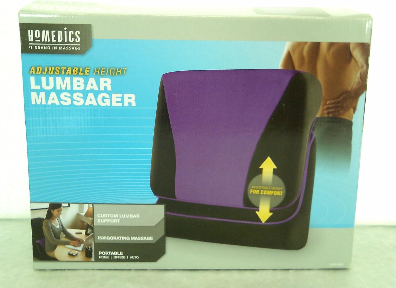 Homedics Adjustable Lumbar Massage Pillow