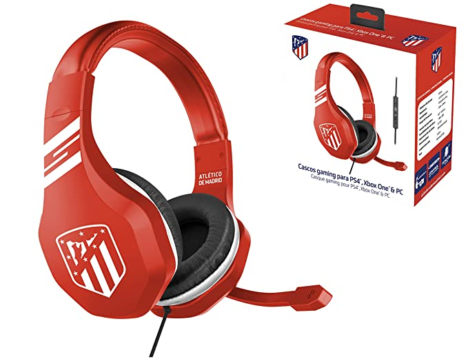 ATM Atletico de Madrid Auriculares gaming - accesorio PS4, PS4 Pro, Xbox One,